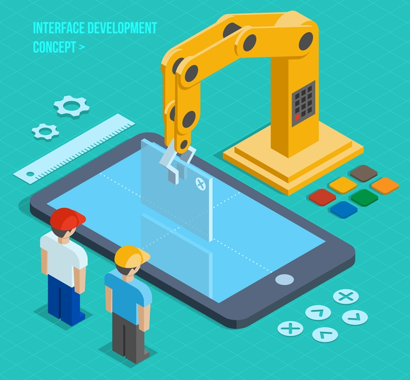 Design a UI and use automated app testing to ensure that it functions properly.